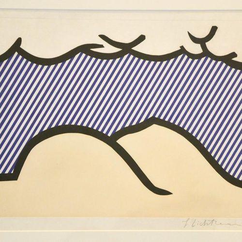 Roy Lichenstein (1993 1927) : Lithographie d'épreuve d'artiste en couleur, signé…