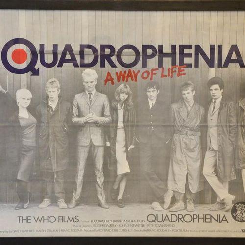 Une affiche publicitaire originale de Quadrophenia, 75 par 60cm.
