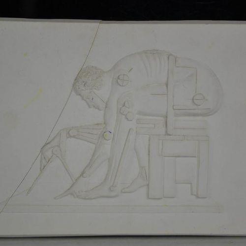 Eduardo Paolozzi (1924 2005) Plaque en plâtre Newton (d'après Blake), avec boîte…