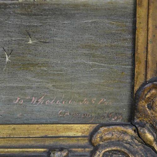 Huile sur carton de la fin du XVIIIe siècle et du début du XIXe siècle représent…