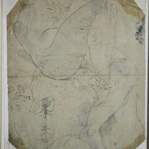 Bryan Edward Dupper (1804 1866) esquisse représentant une figure, 26 x 20 cm.