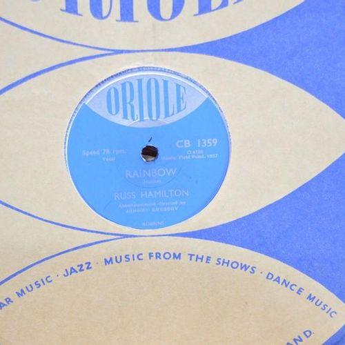 Un groupe de disques 78 tours comprenant Frankie laine, Dinah Shore, Jackie Glea…