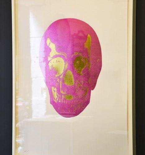Damien Hirst, impression en bloc sur papier blanc, édition limitée 10/15, crâne,…