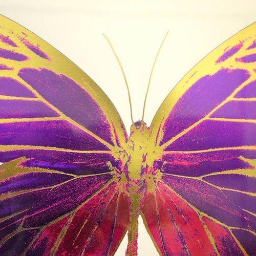 Damien Hirst, impression en bloc sur papier blanc, édition limitée 5/15, papillo…