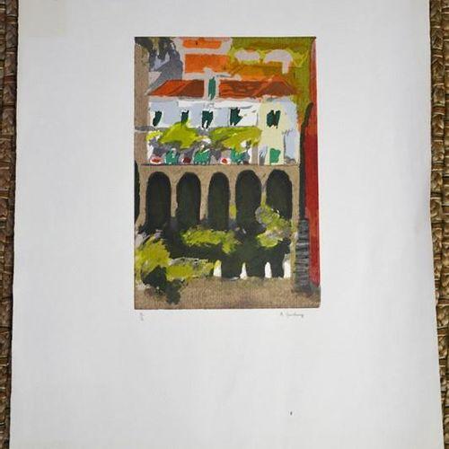A Ginsbury (20e siècle) : deux gravures sur bois en couleur, toutes deux en édit…