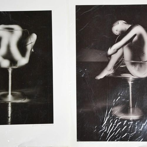 Eric Terence Howard (20e siècle) Tulip Nude and Sarah in a Chair, tirage photogr…