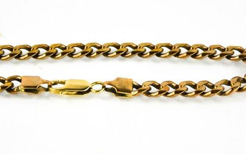 Un bracelet à maillons en or 9ct, 15.4g.
