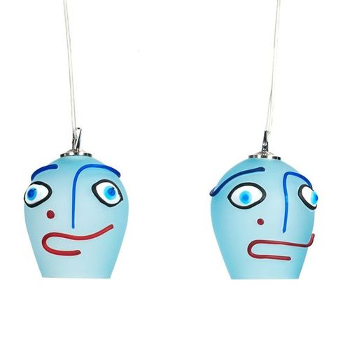 PAIR OF PICASSO CEILING LAMPS, 20TH CENTURY.