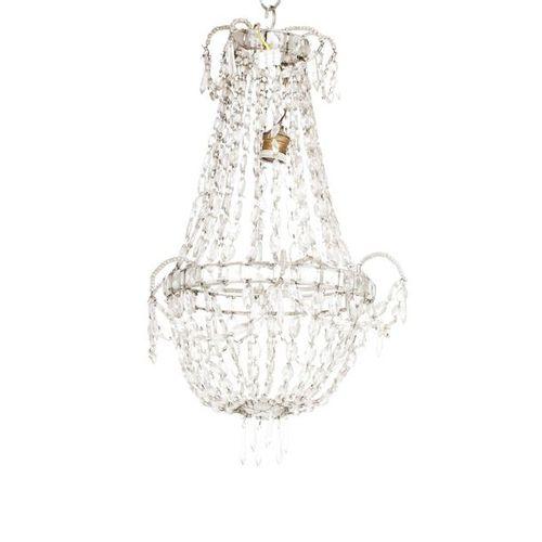 SPANISH EMPIRE CEILING LAMP, 19TH CENTURY.