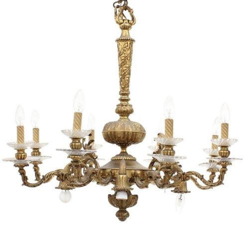 SPANISH CEILING LAMP, FIRST DECADES OF THE 20TH CENTURY.
