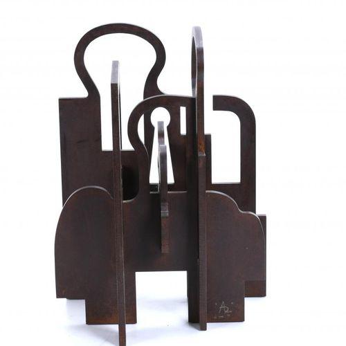 IÑIGO ARREGUI (1954). UNTITLED. Corten steel sculpture.  Signed with monogram an…
