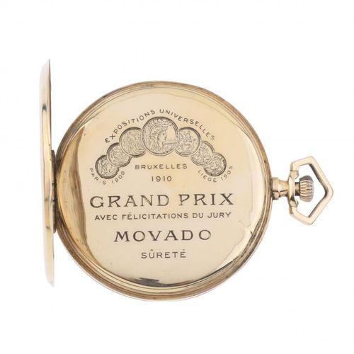 MOVADO GRAND PRIX. MOVADO POCKET WATCH. GRAND PRIX DU MOVADO.  Boîtier en or jau…
