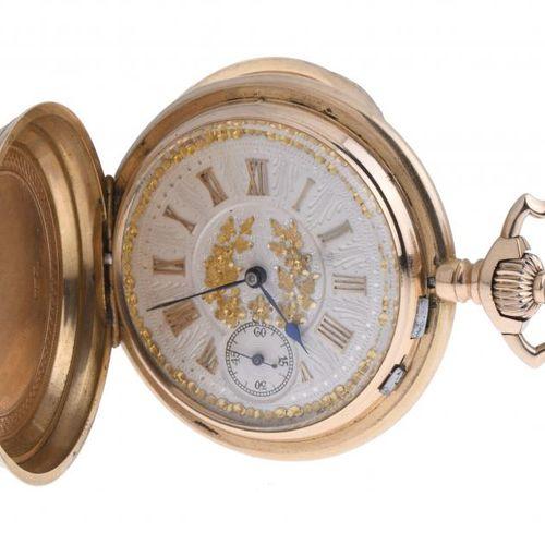MEN'S GOLD POCKET WATCH, 19TH CENTURY. Triple couvercle en or 18kt et 15 rubis. …