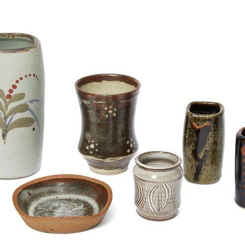David Leach (1911 2005), a stoneware vase  c.1970, impressed seals to base  A cy…