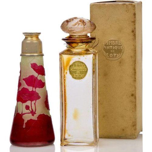 René Lalique (1860 1945) a 'Coty 9' Eau de Toilette glass scent bottle with orig…