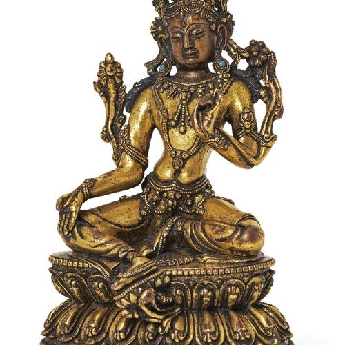 Propriété d'un Gentleman (lots 36 85)    Figure de Tara Verte en bronze doré sin…