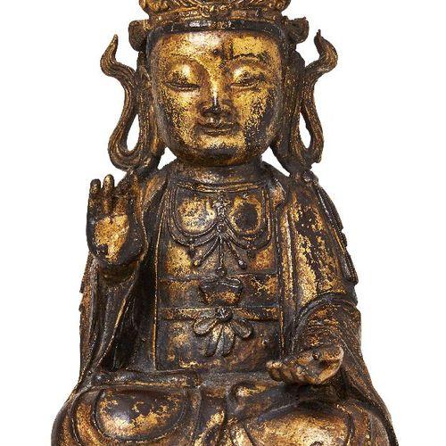Propriété d'un Gentleman (lots 36 85)    Une grande figure chinoise en bronze do…