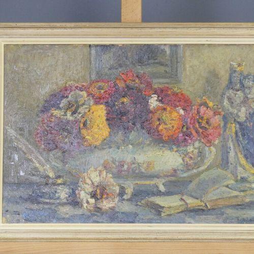 Raoul ADAM Raoul ADAM (1881 1948) Bouquet de fleurs, huile sur toile, Signé en b…