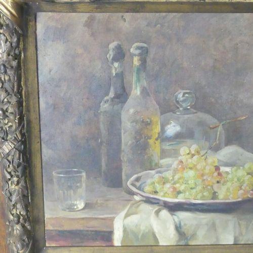 René Louis CHRÉTIEN René Louis CHRÉTIEN (1867 1945) nature morte à la bouteille,…