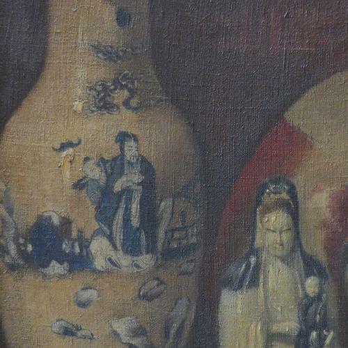 Nature morte aux chinoiseries Ecole du XXème siècle, Nature morte aux chinoiseri…