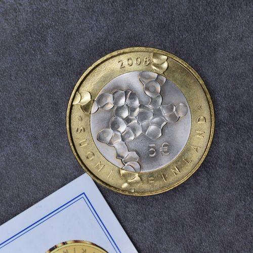 Une pièce de 5euros Finland 2008. Une pièce de 5euros Finland 2008.