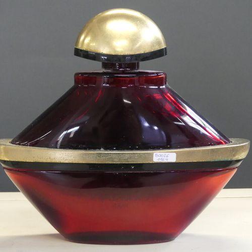 Guerlain GUERLAIN. Samsara, flacon de parfum factice, verre et plastique. H: 27.…