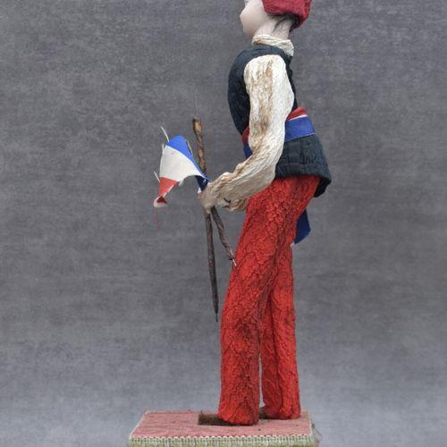Poupé automate Poupée automate musicale en forme de révolutionnaire au bonnet fr…