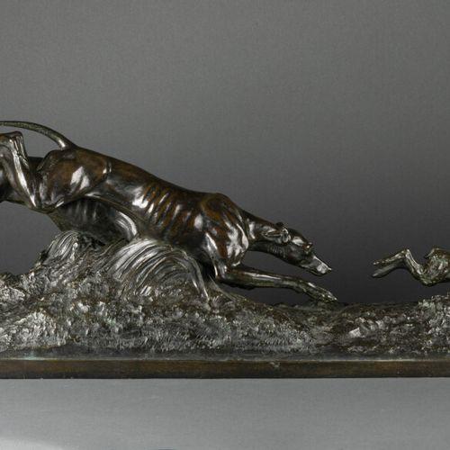 Chasse aux lièvres Le Comte Arthur du Passage (1838/1909). Chasse aux lièvres, b…