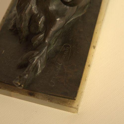 Bouc Oscar WALDMANN (1856 1937). Bouc en bronze à patine brune signé début XXème…