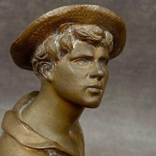 Jean Didier DEBUT (1824 1893) Le Faneur, bronze patiné, signé sur la terrasse. H…