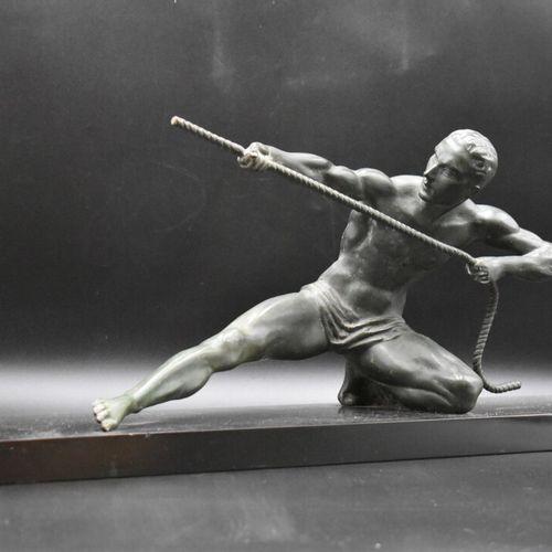Le pêcheur, régule. Dans le goût d'Alexandre OULINE, Le pécheur , régule à patin…