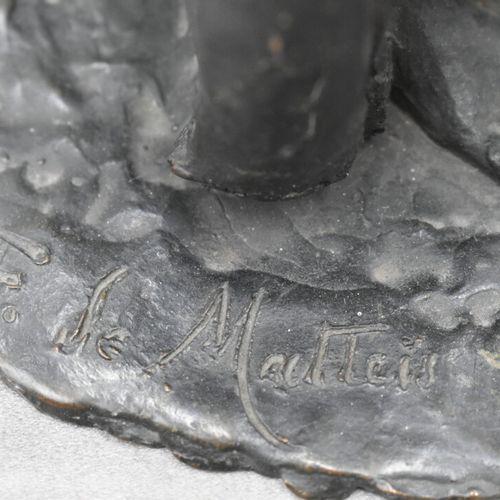 F. DE MATTEIS, Bronze F. DE MATTEIS, Couple de musiciens. Bronze à patine noire,…