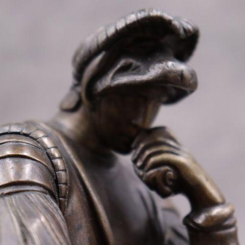 Le Penseur D'après Michel Ange,Homme portant la main à son visage, Laurent de ME…