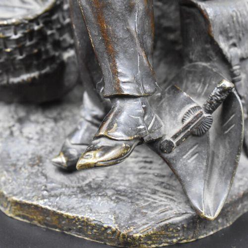 Bronze Jean François Théodore GECHTER (1796 1844), Officier au berceau avec des …