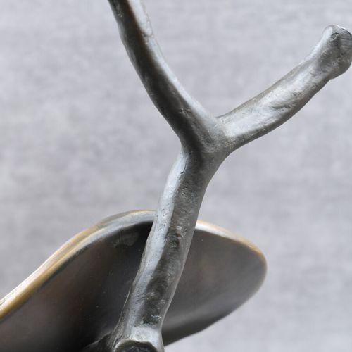 Salvador DALI , Bronze Salvador DALI (1904 1989) Profil du temps, bronze à patin…