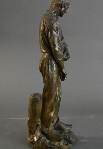 Aimé Jules DALOU (1838 1902), Bronze Aimé Jules DALOU (1838 1902), Paysan releva…