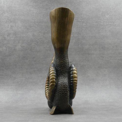 Jean MARAIS, Bronze. Jean MARAIS, Rython au Capricorne. Bronze patiné. Signé, ju…