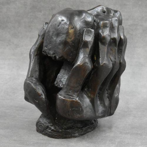 Etienne MARTIN (1913 1995), Bronze. Etienne MARTIN (1913 1995). Tête aux mains. …