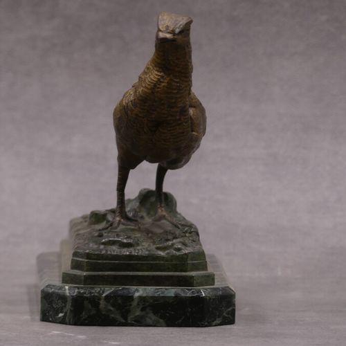 DELABRIERE d'après Paul DELABRIERE (1829 1912) Faisan, bronze à patine dorée soc…