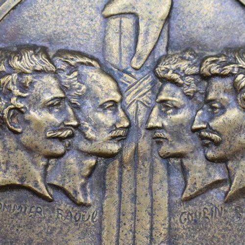 D'après DAVID d'ANGERS, MEDAILLE en bronze, figurant faisceau et bonnet phrygien…