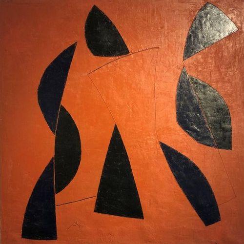 "Georges FERRATO (Born in 1949) ""Un matin dans le jardin"" Mixed media on canvas, …"