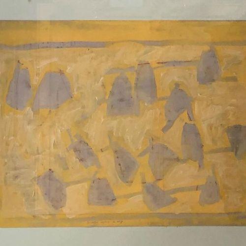 Georges FERRATO (Born in 1949) Les Ombres captives du Nuage Mixed technique on A…