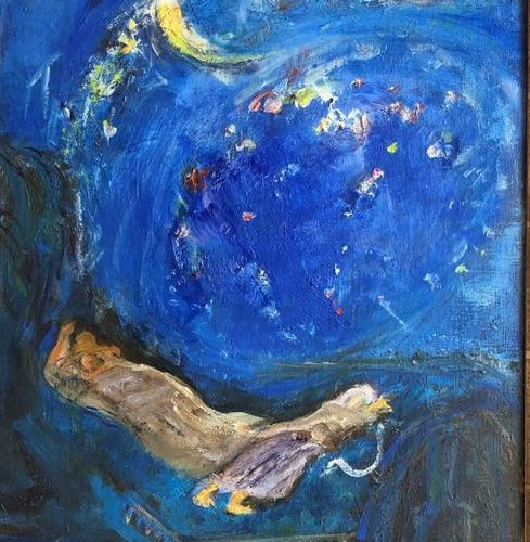 Pierre PARSUS (Born 1921) Booz asleep. Oil on canvas, signed lower right. Circa …