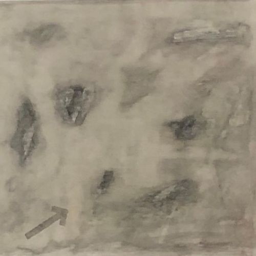 Claude SYLVERE (Born 1933) Untitled Monochrome drawing on Canson signed lower ri…