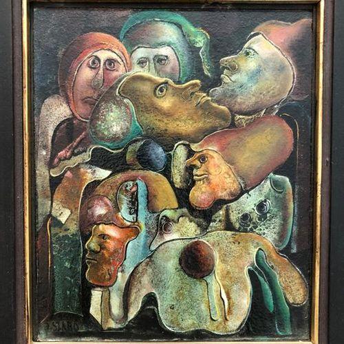 Joseph SZABO (1925 2010) Untitled Oil on panel, signed lower left. 20th 25 x 21 …