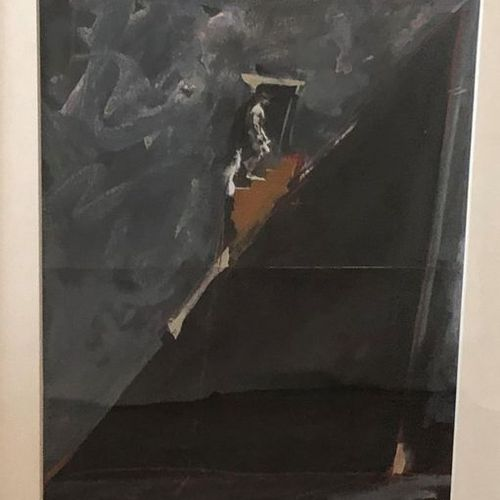 Vladimir VELICKOVIC (1935 2019) Untitled. Oil and Collage on canvas, signed and …