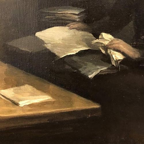 Peter MARTENSEN (Born 1953) The Document.Pmm1930809 Oil on canvas, 2009. 60 x 50…