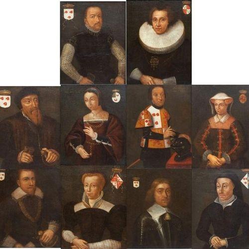 Dutch School (17th Century) Ecole hollandaise (XVIIe siècle), Dix portraits prin…