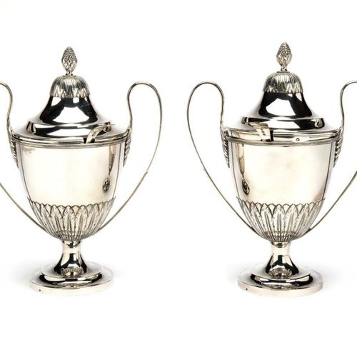 Two Dutch silver chestnut vases, including two spoons Two Dutch silver chestnut …