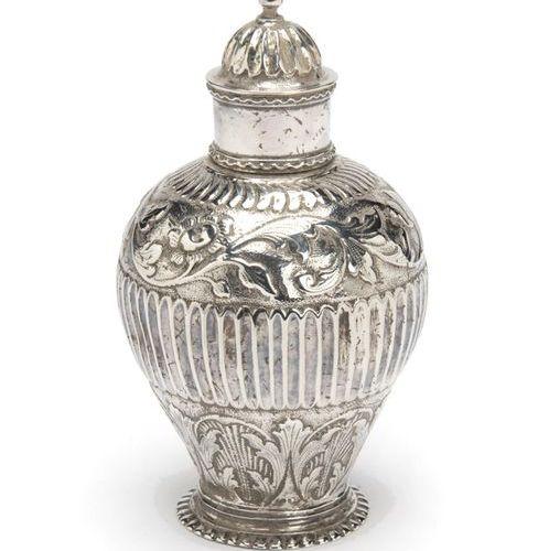 A Dutch silver tea caddy, Haarlem A Dutch silver tea caddy, Haarlem, Baluster fo…